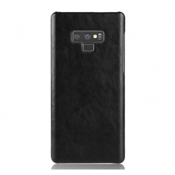 Ultra Slim Luxury PU Leather Texture Hard PC Case Back Cover for Samsung Note 9 - Black