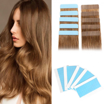 120 Pieces/5 Sheets Waterproof Double Sided Adhesive Tape Seamless Hair Extension Film