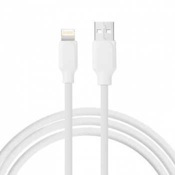 1m Soft TPE 8pin Charging Cable for iPhone Mobile Phone - White