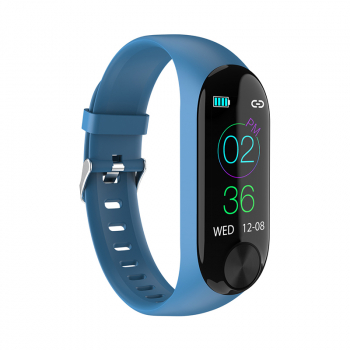 Y10 Sport Waterproof Smart Bracelet Blood Pressure Heart Rate Measurement Fitness Tracker Pedometer - Blue