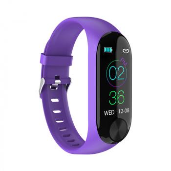 Y10 Sport Waterproof Smart Bracelet Blood Pressure Heart Rate Measurement Fitness Tracker Pedometer - Purple