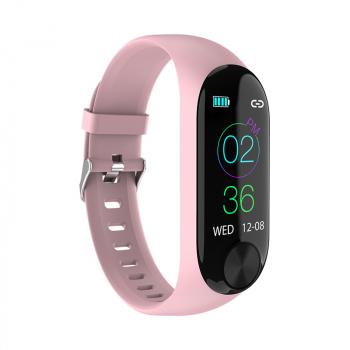 Y10 Sport Waterproof Smart Bracelet Blood Pressure Heart Rate Measurement Fitness Tracker Pedometer - Pink