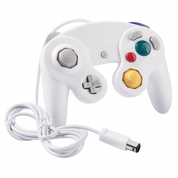 NGC Classic Wired Controller Compatible with Nintendo Gamecube Wii Video Game Console - White