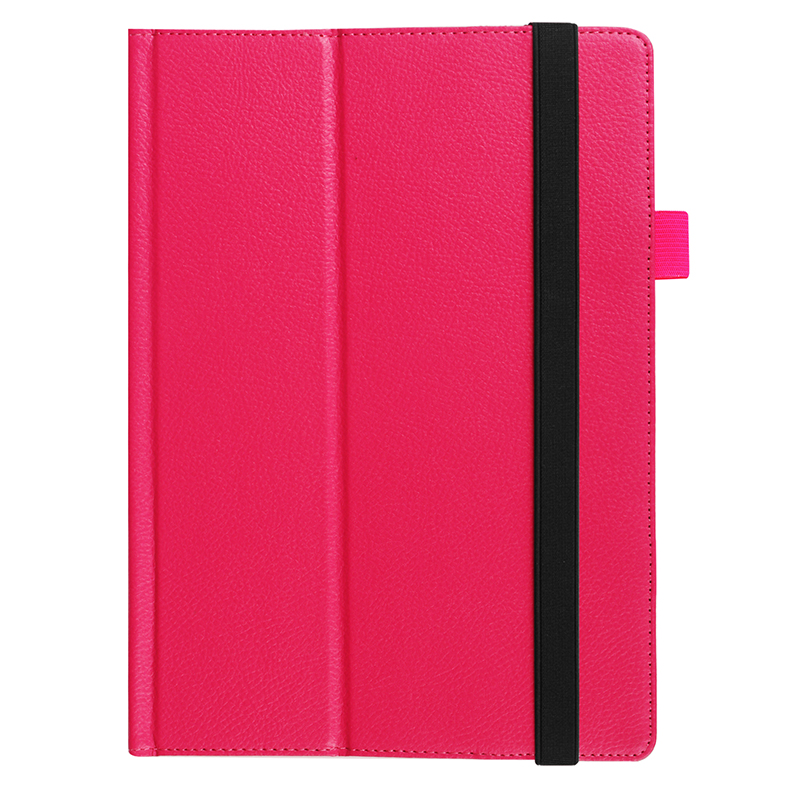 Protective PU Leather Folio Stand Cover Case for Lenovo MIIX 320 10.1 Inch - Rose Red