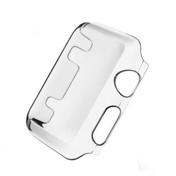 Cystal Clear Hard Snap On Case Cover for Apple Watch iWatch Series 3 - 42MM