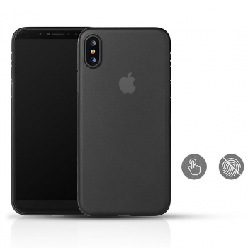 Ultra Slim Frosted Case Shockproof Hardshell Cover Case for iPhone X/XS - Black