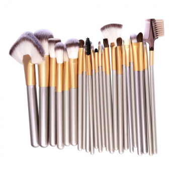 24 pcs Professional Powder Blush Shadow Brushes Set Cosmetic Tool Makeup Kit with Bag
