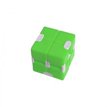 Fidget Magic Blocks Infinity Cube Puzzle Flip Cube Anti Press Hand product - Green