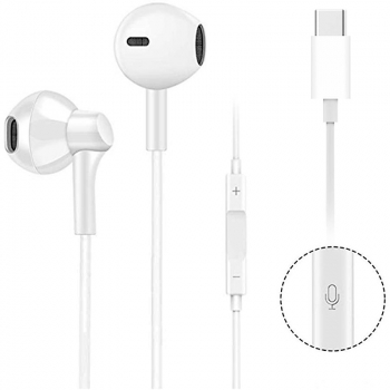 USB C Digital Earbuds Type C Earphones with Microphone Noise Cancelling Function