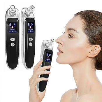 UK Electric Face Nose Blackhead Remover Pore Cleaner Pimple Acne Vacuum Suction