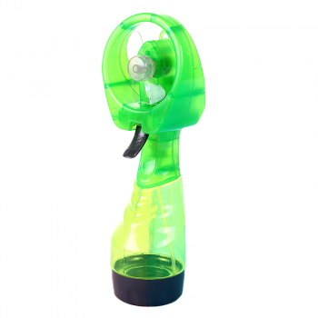Portable Mist Spray Fan Hand Held Battery Power with Air Water Bottle Misting Cooling - Green