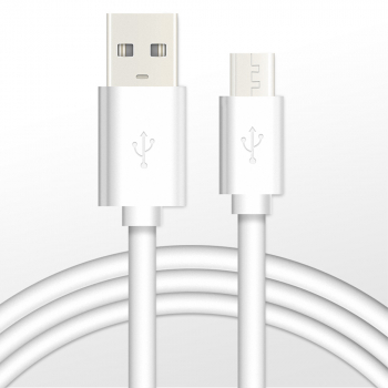 1M Micro USB Charging Data Cable Android Smartphones Charger for Huawei Samsung Galaxy S4 - White