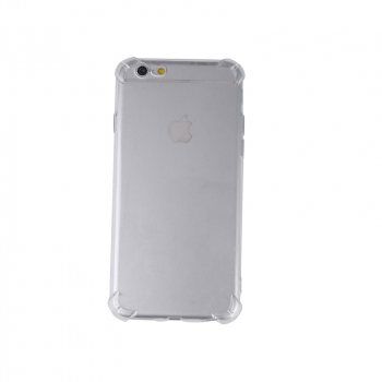 Shockproof TPU Soft Touch Clear Phone Back Cover with Tempered Glass Screen for Apple iPhone 6S