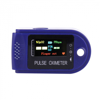 Four-color Display Fingertip Pulse Oximeter Oxygen Saturation Meter Blood Monitor Finger Oximeter with FDA Certificate