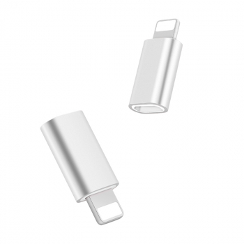 USB-C 3.1 Type C Female to 8pin Male Adapter Charge Converter Connector - White