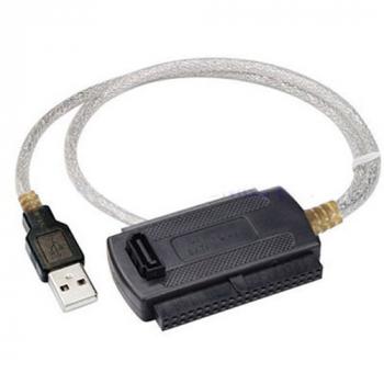 USB 2.0 to SATA/IDE Cable Converter (EU Plug)