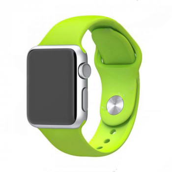 Soft Sillicone Rubber Watchband for Apple iWatch 42mm - Green