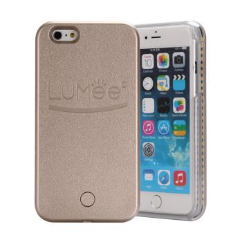 LED Cool Light Frame Decorated Phone Case for iPhone 6s Plus - Gold