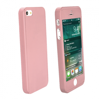 Full Coverage PC Protective Back Phone Case Cover for iPhone 5 - Rose Gold