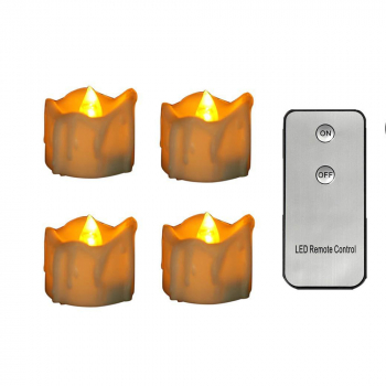 12pcs Flameless LED Candle Flickering Tea Light with Remote Control