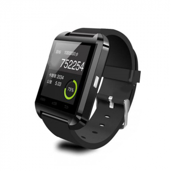 U8 Uwatch Bluetooth V4.0 Smart Watch Wristband for Android & iOS -Black