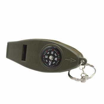 4 in 1 Multifunctional Whistle Compass Magnifier Thermometer Keyring