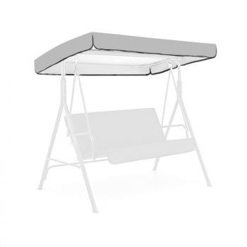 Replacement Canopy for Swing Seat 3 Seater Sizes Garden Hammock Cover - Grey