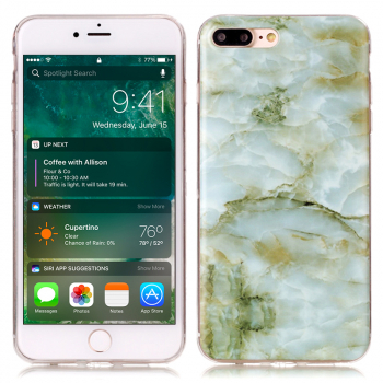 Marble Pattern Soft TPU Protective Cover Phone Back Case for iPhone 7/8 Plus - Model A