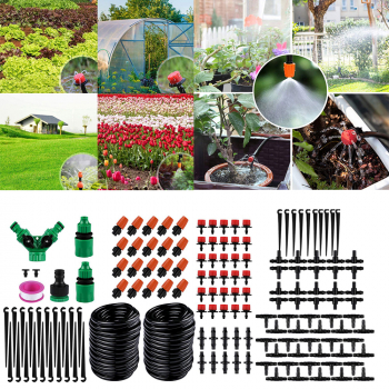 2 pcs 15m DIY Micro Drip Irrigation System Set Automatic Watering Garden Hose Watering