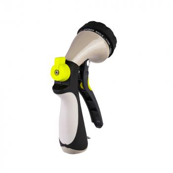 10 Dial Water Gun Sprayer MultiPattern Garden Sprayer Hose Pipe Metal Chrome Handle