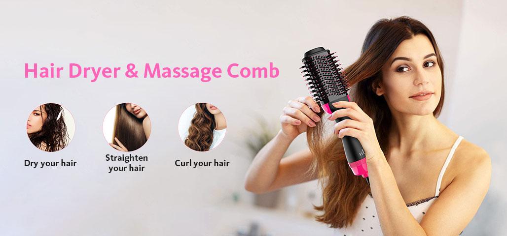 Hair Dryer & Massage Comb