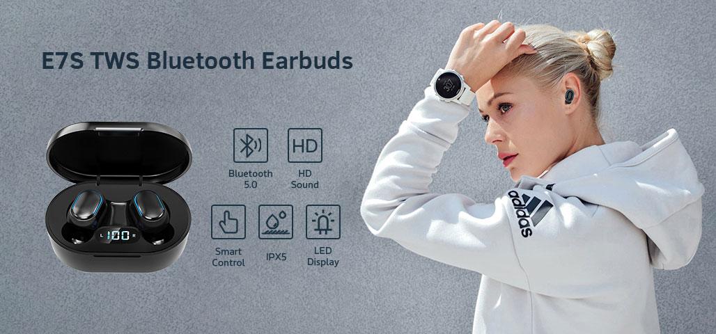 E7S TWS Bluetooth Earbuds