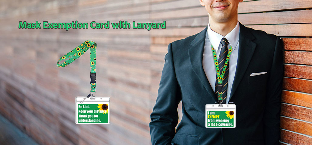 Mask Exemption Card with Lanyard