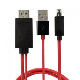 2M 6Ft 1080P Micro USB MHL to HDMI Cable adapter HDTV For Samsung Galaxy S3/4/5 NOTE2/3/4