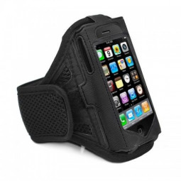 iPhone 4G / 4S Armband Exercise Band Running Cover Sport Gym Workout -Black
