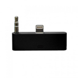 30 pin to 8 pin AUDIO Adapter Converter for Dock Station iPhone 5 iPod Touch- Black