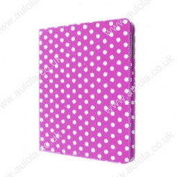 Protective dot flip case for iPad 2&3-Rose Red