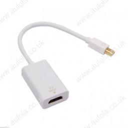 Mini Displayport DP 1.2 Male to HDMI 1.4 Female Conversion Cable- White