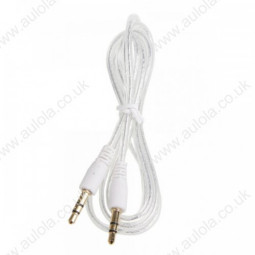 3.5mm Male to Male Visible Audio Extension Cable - White
