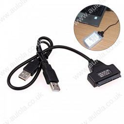 """USB 2.0 to SATA Serial Adapter Cable For 2.5"""" HDD Laptop Hard Drive"""