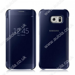 Mirror Flip Smart Case Cover for Samsung Galaxy S6 Edge - Blue