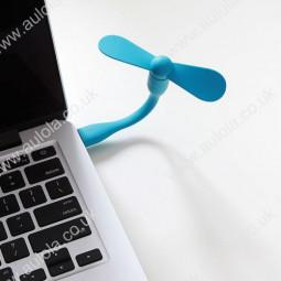 Super Mini XiaoMi Bendable USB Fan for Laptop Computer- Blue