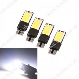 4 x Error Free Canbus COB Sidelight Width Lamp 24LED White Bulbs
