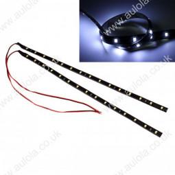 2x 30CM-15LED 3528 SMD 12V Waterproof Car Light Strip