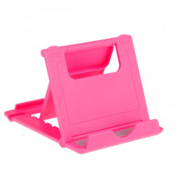 L Shape Universal Phone Tablet Fodable Portable Stand Mount Holder - Rose Red