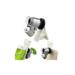 Clip-On Optical 60X Zoom Cell Phone LED Telescope Camera Clip Microscope Lens