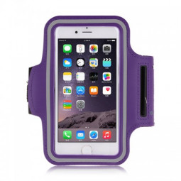 Adjustable Armband Armlet Velcro Strap for iPhone 6 Plus 5.5 - Purple