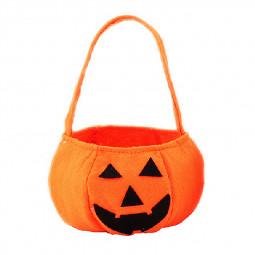 Pumpkin Kids Candy Bag Handbag Halloween Holiday Birthday Party Gift Bag