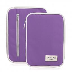 Travel Passport ID Card Tickets Handy Pouch Holder Case Bag Organizer Wallet Purse - Purple