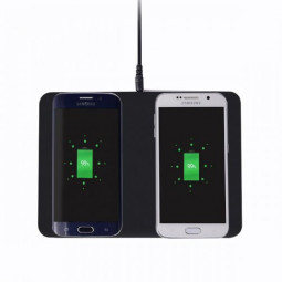 Q300 2-in-1 Wireless Charger Cradle Pad Transmitter for Samsung iPhone
